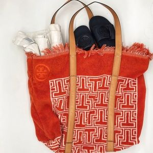 Tory Burch T Terry Towel Tote